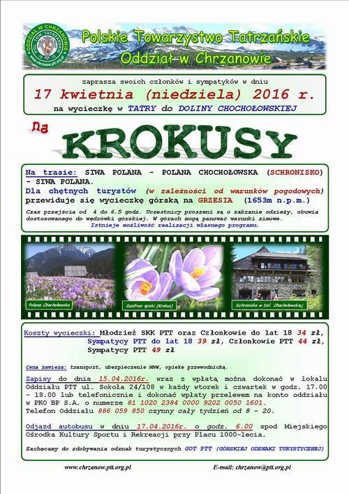Wycieczka z PTT na krokusy - Dolina Chochołowska